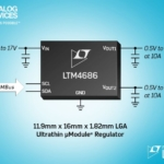 Dual 10A, Single 20A Ultrathin µModule Regulator with Digital Power System Management