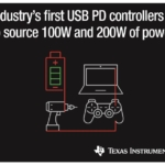 Industry's first 200-W and 100-W USB Type-C™ and USB Power Delivery controllers