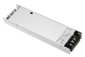 LSP-160 super flad strømforsyning fra Mean Well. Forhandler er Power Technic.