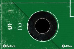 PCB cleaner x460. Før og efter PCB rengøring - CORE-emt