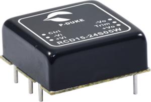 RCD15 DC/DC konverter fra P-DUKE til Tog og Industri applikationer . Forhandler er Power Technic. Ring 70 208 210
